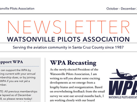 WPA 2019 Q4 Newsletter...and Beyond