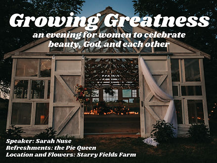 Growing Greatness_5.15 Event