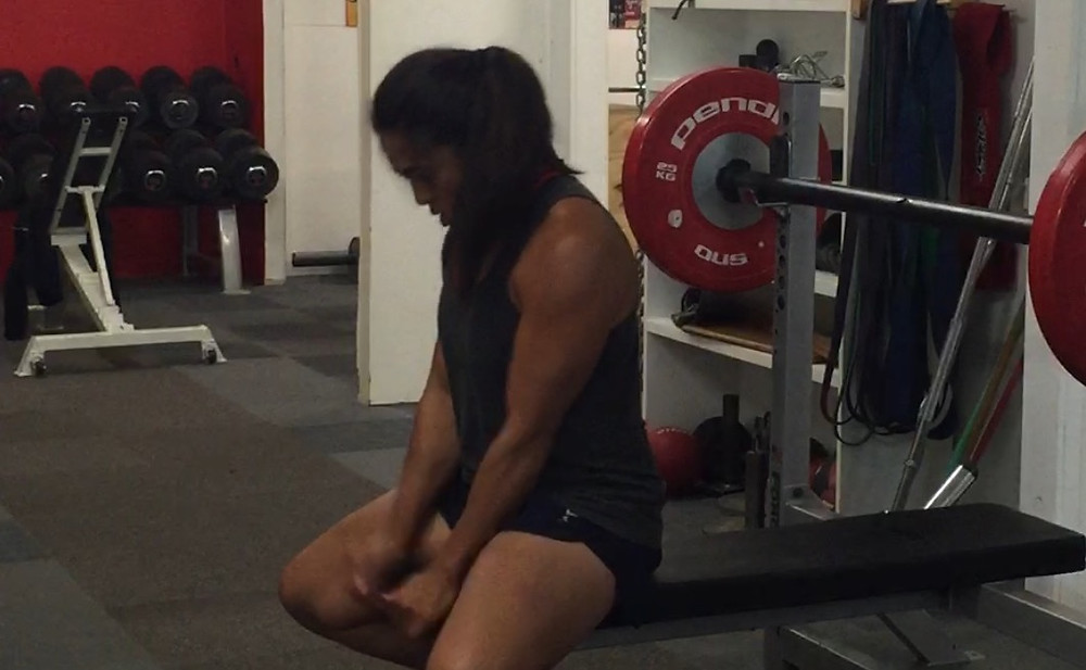 Saofaiga Saemo mindset and focus before she lifts