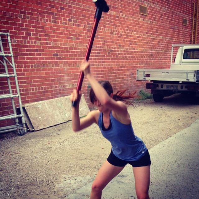 Training with a sledgehammer