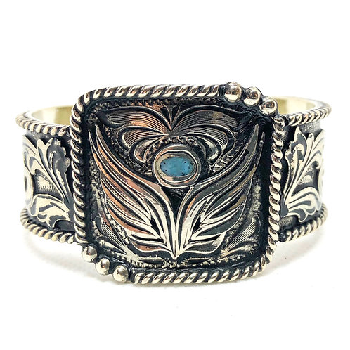 Angel Turquoise Silver Cuff