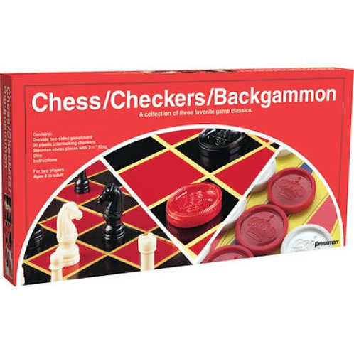 GAME CHECKERS/CHESS/BACKGMN