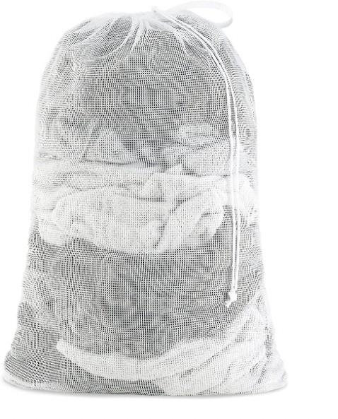 LAUNDRY BAG WHITE MESH