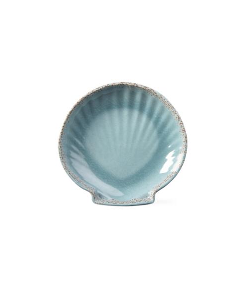 Aqua Melamine Medium Scallop Dish