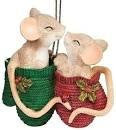 MICE IN A MITTEN ORNAMENT