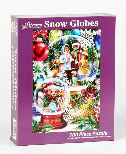 100 pc Snow Globes Puzzle
