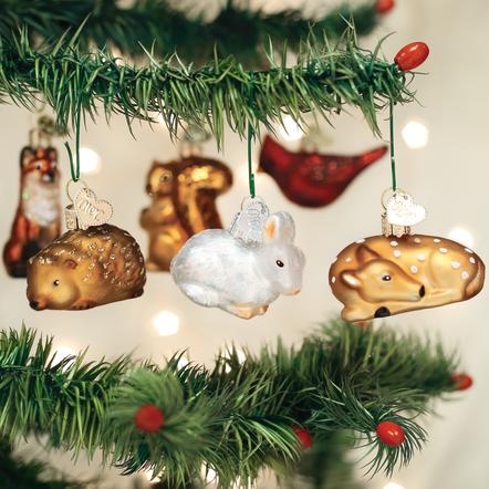 Old World Christmas Mini Woodland Animal Ornament Set