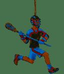 Lacrosse Boy Resin Ornament