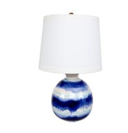 Blue Glazed Lamp