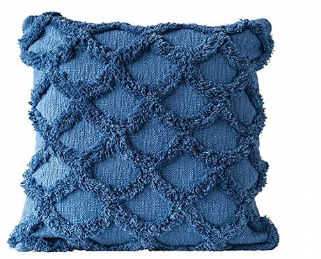 Chenille Dark Blue Pillow