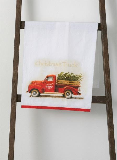 Red Truck Dish Towel
