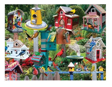 White Mountain - Birdhouse Village Puzzle