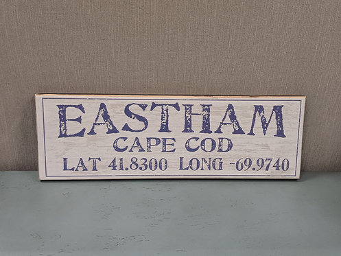 Eastham Lat/Long Sign