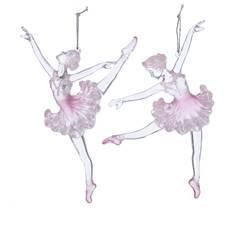 PINK BALLERINA ORNAMENT (EACH)