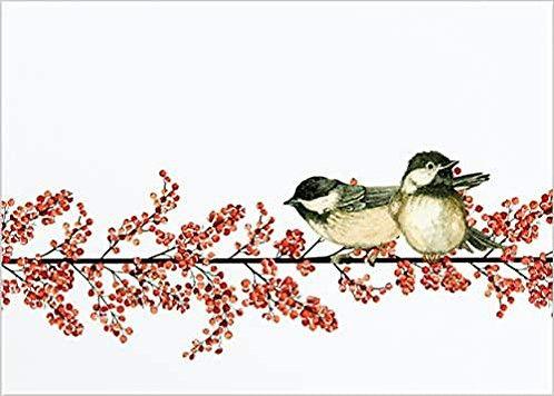 Winterberry Chickadees - Box (20 cards)