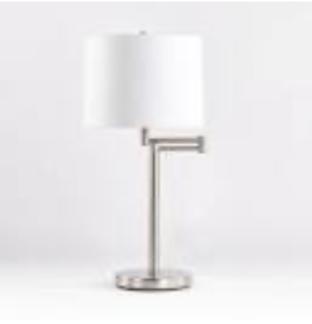 Brush Silver Swing Table Lamp