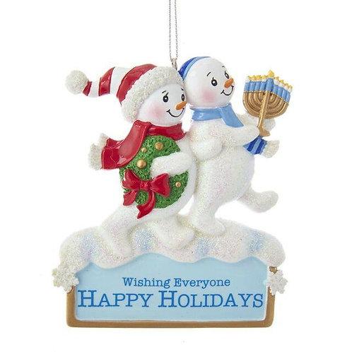 HANNUKKAH & CHRISTMAS SNOWMAN