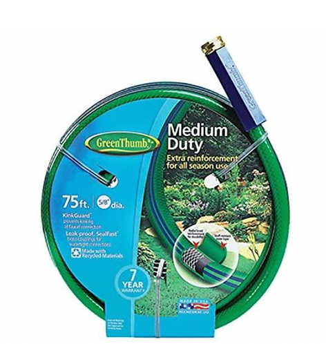 "Garden Hose 5/8""x75' - Medium Duty"