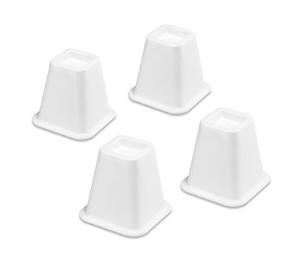 BED RISERS WHITE