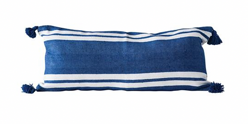 Striped Blue Pillow