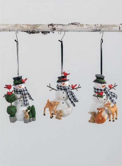 SNOWMAN ORNAMENT (EACH)