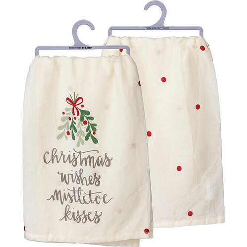 Mistletoe Kisses Dish Towel (EACH)