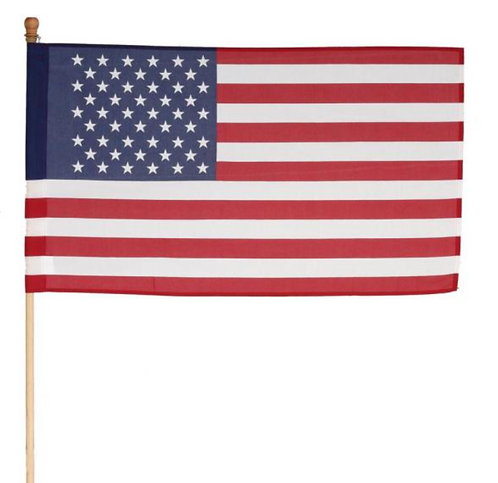 2.5 x 4' U.S. Poly Cotton Flag Kit