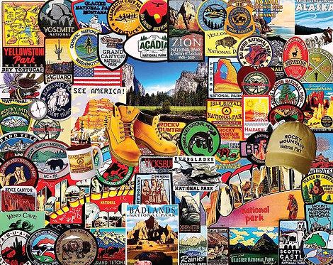 PUZZLE 1000 NATIONAL PARK BADGES