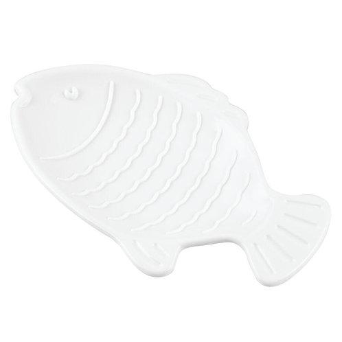 WHITE FISH SOAP DISH