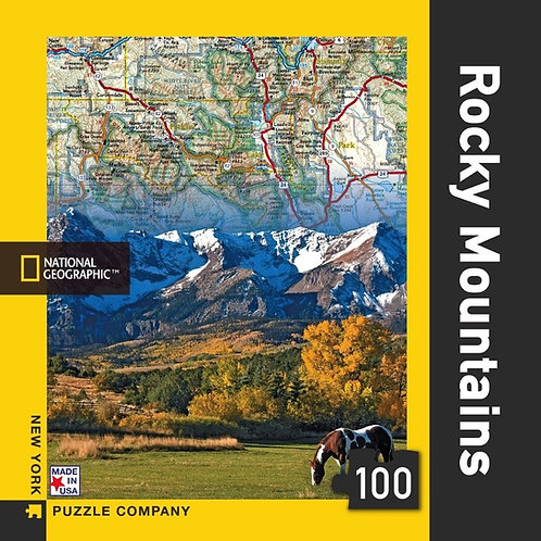 PUZZLE MINI 100 ROCKY MOUNTAINS