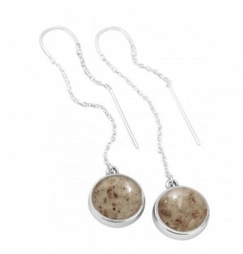 DUNE JEWELRY - Azomite/Obsidian Sandglobe Earrings
