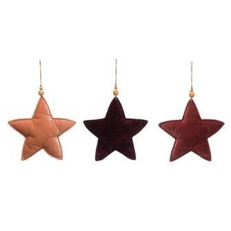 Velvet Star Ornament (EACH)