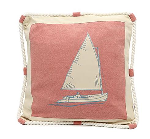 Nantucket Life Sailboat Pillow