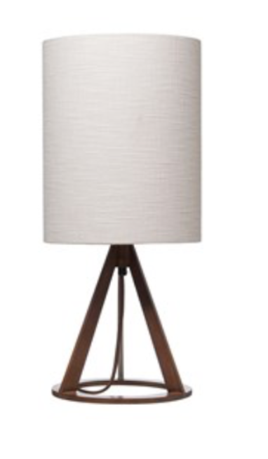 """11"""" Wood Round Table Lamp"""