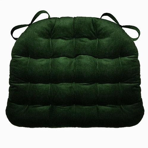 Hunter Green Corduroy Chair Pad