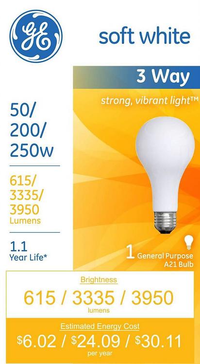 GE 3-Way Lightbulb