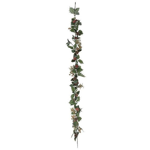 Holly Gold Berries Garland