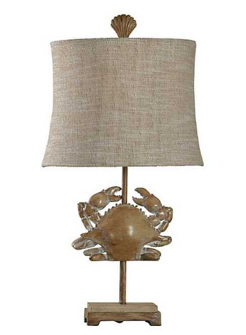 Crab Fossil Table Lamp