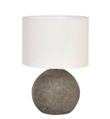 Terracotta Canvas Shade Lamp