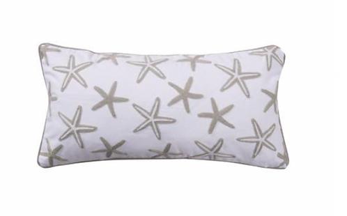 Strafish Crewel Grey Pillow