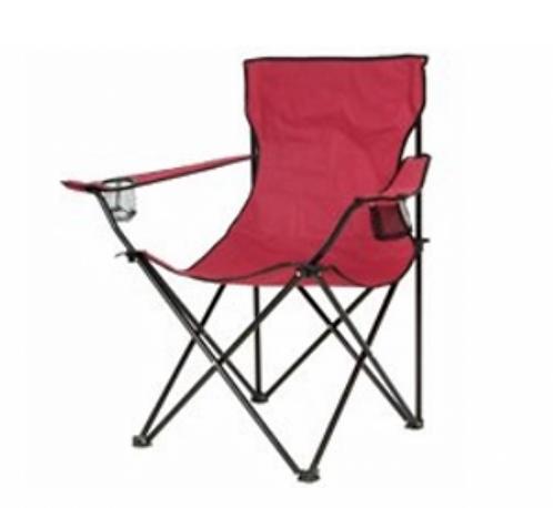 Wide Bucket Chair - Burgundy