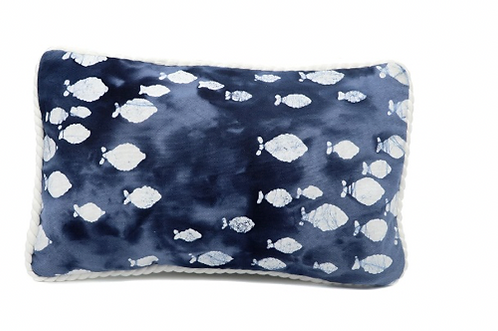 Batik Fish Accent Pillow