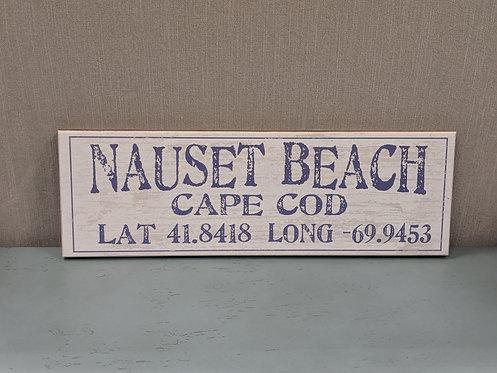 Nauset Beach Lat/Long Sign