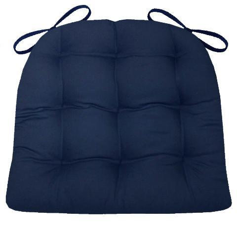 Navy Cotton Duck Chair Pad