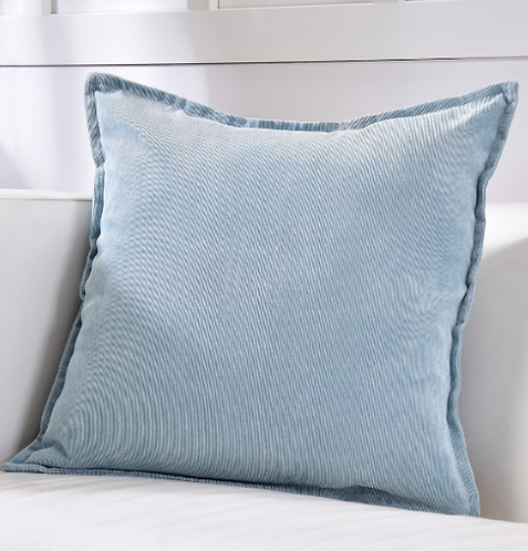 Blue Corduroy Pillow