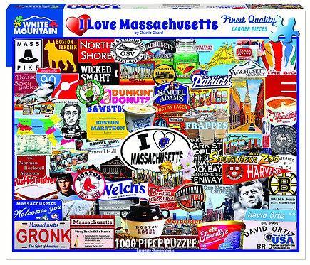 PUZZLE 1000 I LOVE MASSACHUSETTS