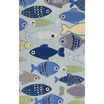 SONESTA SEA OF FISH LGHT BLUE RUNNER 2X7.6