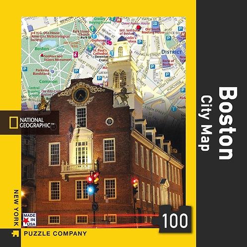 PUZZLE MINI BOSTON CITY MAP