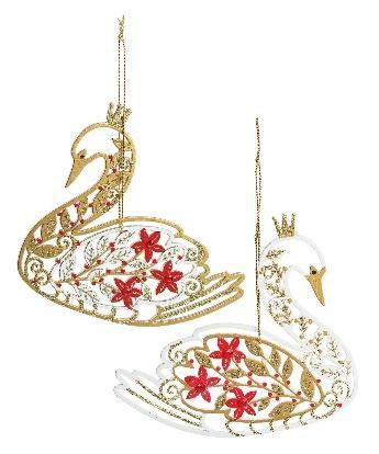 Filigree Swan Ornament (EACH)
