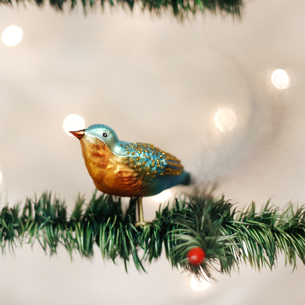Old World Christmas Forest Finch Ornament